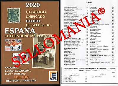 Catalogo Edifil 2020 Sellos De España Y Ex Colonias Spanish Colonies Stamps