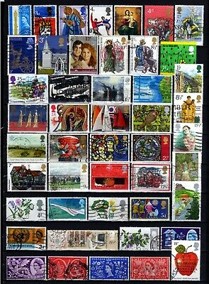 757-INTERESTING LOT of USED STAMPS from ENGLAND.LOTE de Sellos USADOS INGLATERRA