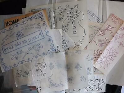 Mixed Set of Vintage Iron-On Embroidery Sewing Crafting Transfers Patterns