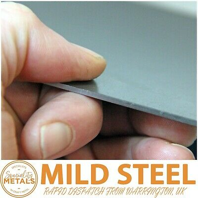 2mm Mild Steel Sheet Plate Thickness Guillotine Cut UK Made Rapid Dispatch