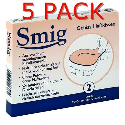 5x SMIG SNUG Denture Cushions Soft Liner Softer protect gum tooth help Prothese