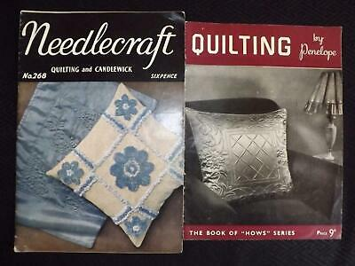 2 Vintage Booklets QUILTING by Penelope & Quilting & Candlewick By Needlecraft