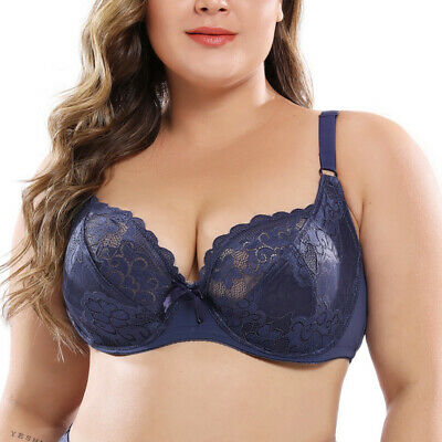 Plus Size Womens Sexy Bra Lace Lingerie Underwire Perspective Brassiere bh Tops