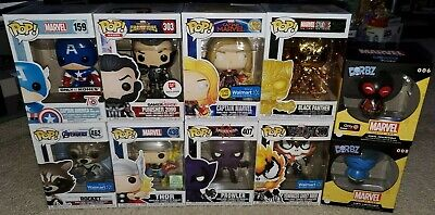 Funko Pop! Marvel Lot 8 Pops 2 Dorbz - Captain America, Ghost Rider & More Excl