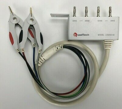 QuadTech LR2000-50 Kelvin Clips Leads *WARRANTY and FREE SHIPPING*