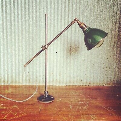 Vintage O C White Industrial Wall or Table Lamp OC Decor Antique