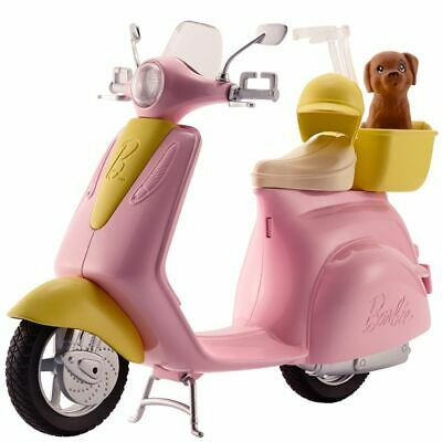 Barbie Moped Scooted Doll Dog Pet Toy Toys Girl Girls Baby Toddler