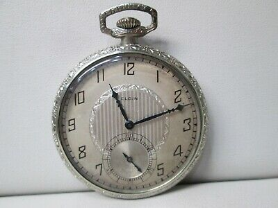 Vintage Elgin Gold Plated Non-Running Pocket Watch 15 Jewels