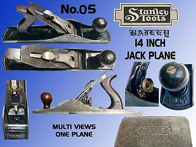 """Stanley Bailey # 05 14"""" Jack Plane With Rosewood Handles Made In Usa Clean&Solid"""