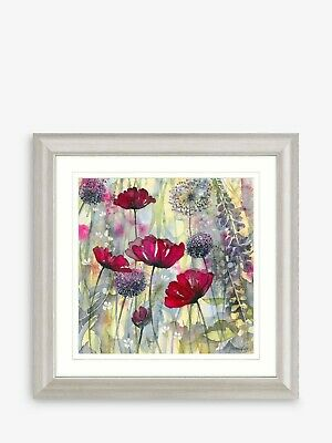 Catherine Stephenson - Raspberry Poppy II Framed Print & Mount, 68.5 x 68.5 £90
