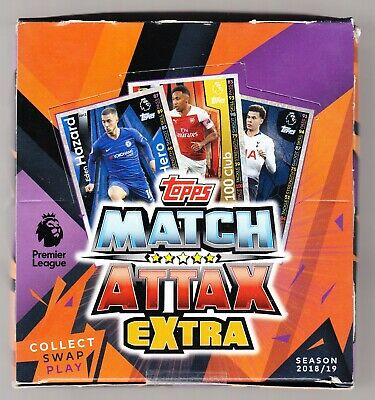 TOPPS MATCH ATTAX EXTRA PL 2018-2019 - Brand New Sealed Box = (350 Cards)