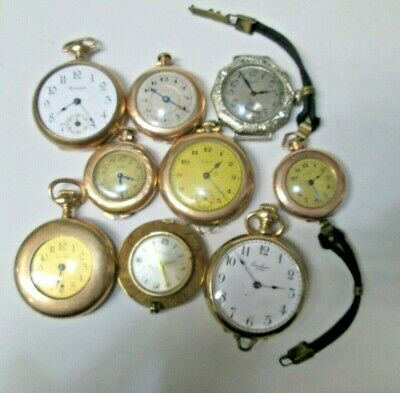 Lot of 9 Bulova Grown Elgin Gold Filled Ladies Watches
