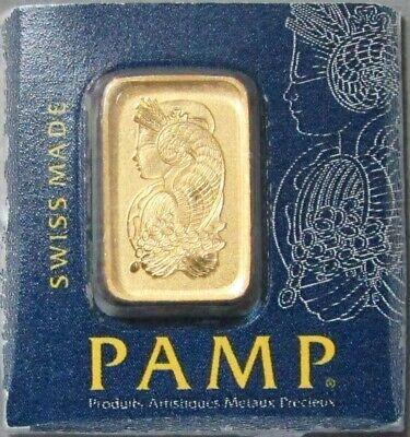 Pamp Suisse Gold 1 Gram Fortuna Bar Sealed 1 G New With Assay Certificate