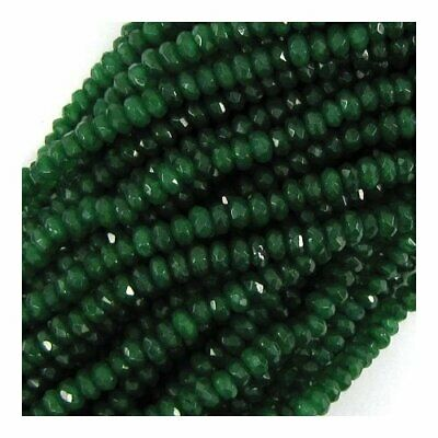 10 GENUINE EMERALD 6-6.5mm FACETED RONDELLE BEADS