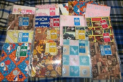 Huge Lot Of Vintage American Greetings All Occasion Wrapping Paper