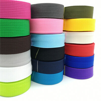 NYLON POLYPROPLYLENE WEBBING STRAPPING DOG LEAD COLLAR 25mm by mtr 30+ colours