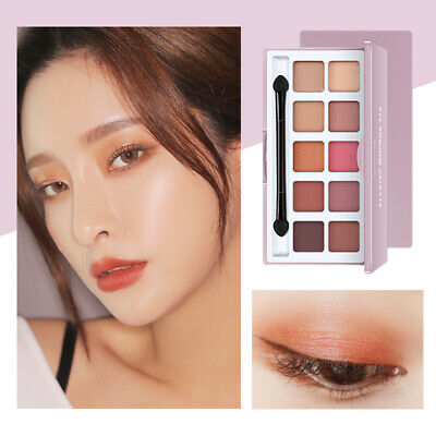 10 Colors Shimmer Matte Eye Shadow Makeup Earth Nude Eyeshadow Palette Set SH