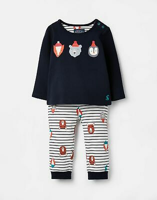 Joules 207338 Long Sleeve Screenprinted Outfit Set in DOT ANIMAL STRIPE