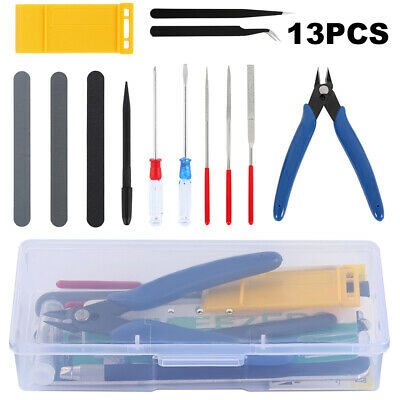 13X Modeler Basic Tools Crafts Set for Gundam Car Model Building Repair DIY Kit~