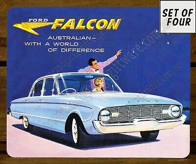 Set Of 4 Mdf/Cork Placemats - The New Ford Falcon