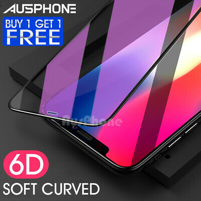 6D Full iPhone 11 Pro XS Max XR 8 7 Plus Screen Protector Tempered Glass Apple