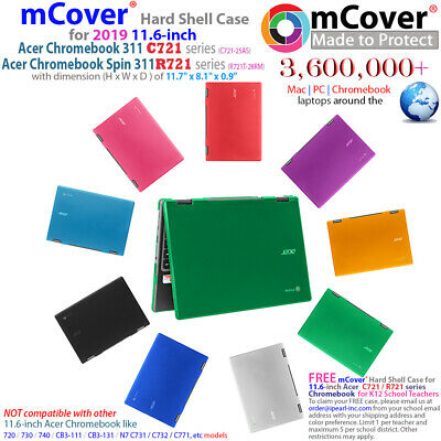 """NEW mCover® Hard Shell Case for 2019 11.6"""" Acer Chromebook 311 C721 R721 series"""