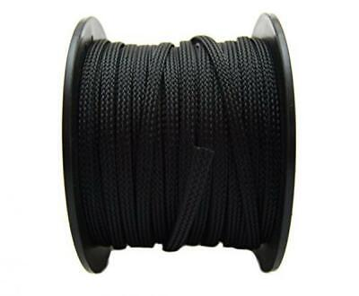 Wiring Loom Wire Cover Harness Braided 1/4 x 100 Ft Wrap Black Automotive Tool