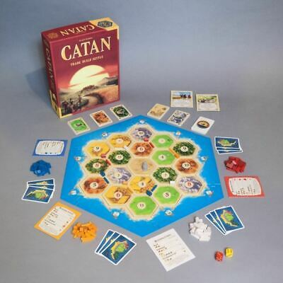 Settlers of Catan 5th Edition Trade Build Settle Card Game Board for Kids Adult