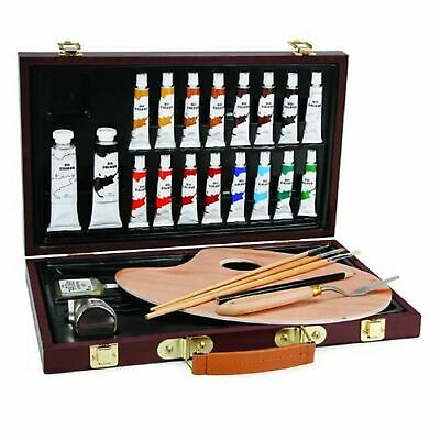 21 Piece Oil Painting Set in Wooden Case - Darice Studio 71