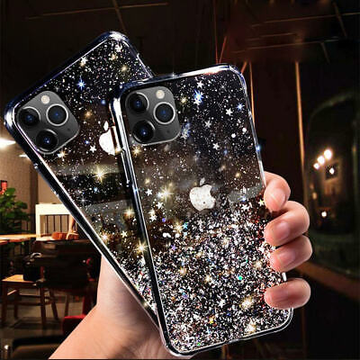 iPhone 11 Pro Max Xs/Xr 7 8 6 Bling Glitter Clear Case Ultra-thin Soft Gel Cover