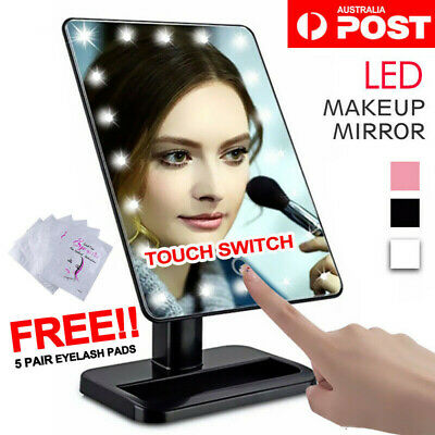 Cosmetic Illuminated Desktop Stand Makeup Mirror with Touch Screen 20 LED Lights