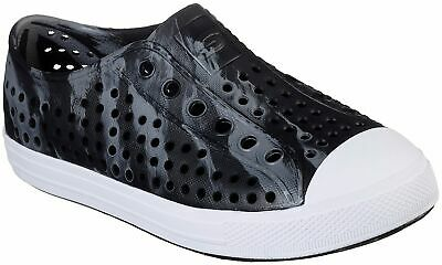 NEW W//TAGS BOYS SKECHERS GUZMAN 2.0 SOLAR SWIRLERS SLIP ON SHOES BLACK//BLUE//GRAY