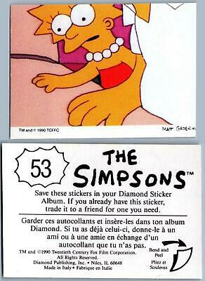 Bart Maggie #18 The Simpsons 1990 Sticker Marge Maggie Homer