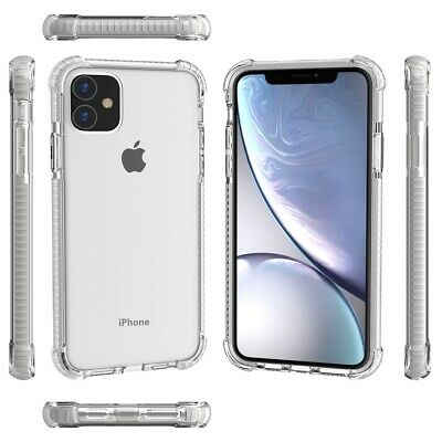 Hybrid Clear Heavy Duty Bumper Protective Shockproof Case for iPhone 11 Pro Max