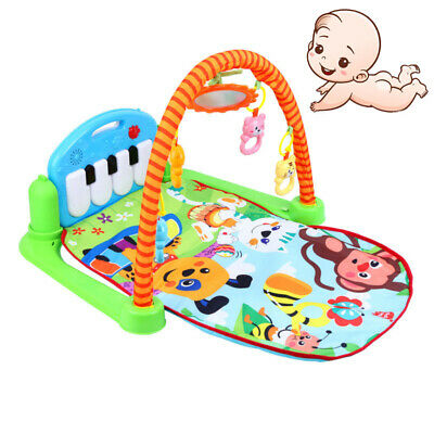 3-in-1 Baby Play Mat Floor Activity Musical Piano Gym Kick Play Toy Fitness Mat
