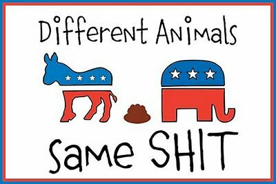 Different Same Sh$t Man Cave SIGN 4x6 magnet Fridge Toolbox American POLITICS