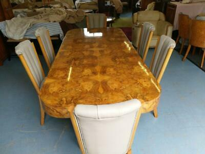 Stunning Hille  Art Deco walnut dining table and chairs c 1930