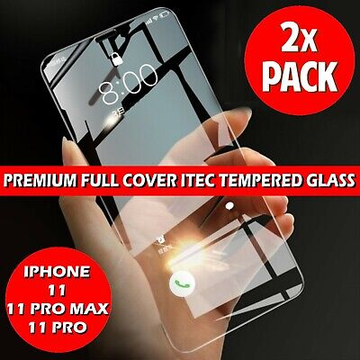 For Apple iPhone 11 Pro Max XS Curved Full Cover Tempered Glass Screen Protector