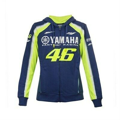Valentino Rossi VR46 Moto GP Yamaha Zip Fleece Hoody - Ladies / Womens