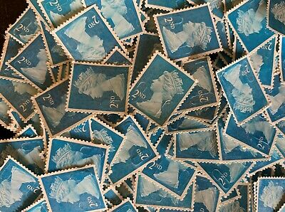 300 2nd class stamps blue security type (seconds) off paper no gum