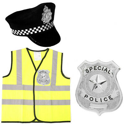 Kids Childrens Policeman Outfit Fancy Dress Police Cop Costume Boys Girls