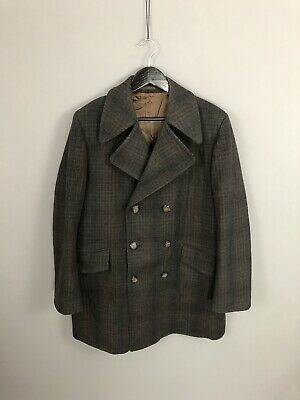 DUNN & CO VINTAGE TWEED Overcoat - 46S - Double Breasted -Great Condition - Mens