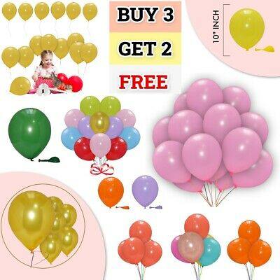 10 X Latex PLAIN BALOON BALLONS helium BALLOONS Good Fun Party Birthday Wedding