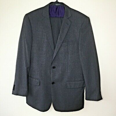 *TAYLOR & WRIGHT* Grey Pinstripe Suit  4OR  Jacket 34 in Waist 29L Trousers.