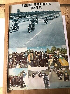"""Vintage 1970 Bandido Black Bart's Funeral Poster Measures Approx 35"""" X 22.5"""