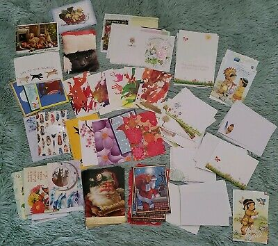 LOT OF 40 MIXED PAPYRUS BIRTHDAY BLANK ALL OCCASIONS HOLIDAYS CARDS 70/% OFF SALE