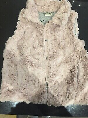 Next Girls Fluffy Gilet Bodywarmer. Age 9. Blush Pink