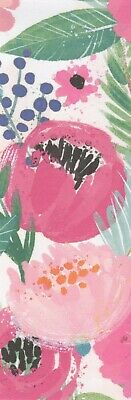 Shades of Pink Flowers decorative paper,  laminated bookmark