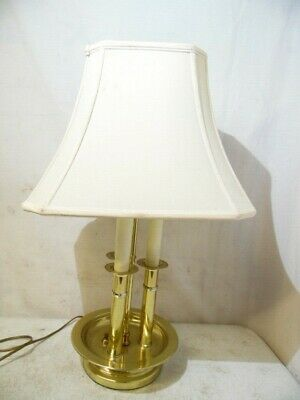 VTG Solid Brass Touch Operated Electric Table Lamp Night Light Fixture 2 Lite