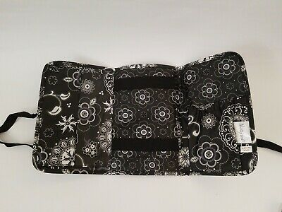 Thirty One 31 Fold and Go Organizer Laminated Botanical Lace Black White